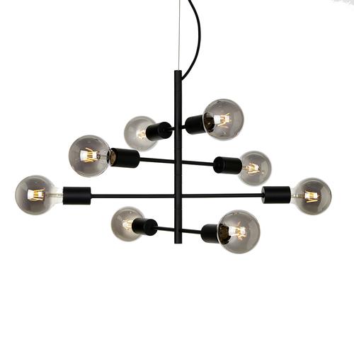 Černá závěsná lampa Portel