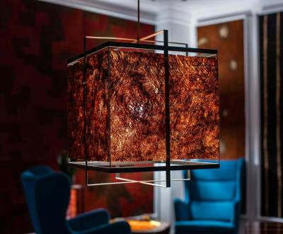 Unikátní závěsná lampa MBILI kůra Kyambalo