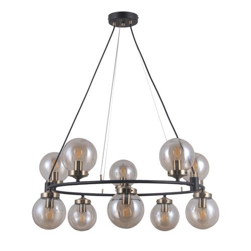 Černá závěsná lampa Galvez E14 10-žárovka