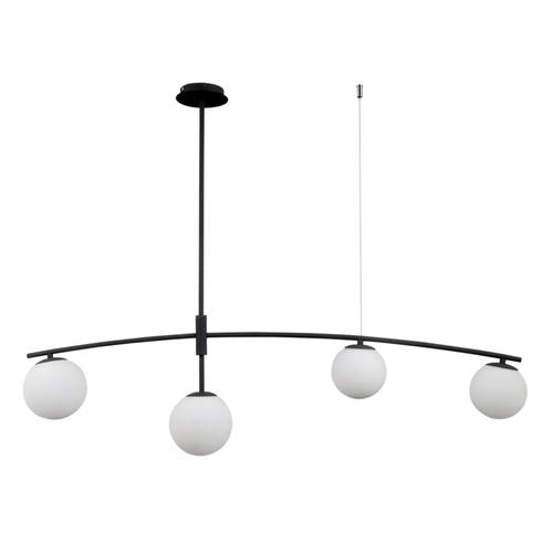 Černá závěsná lampa Senai G9, 4 žárovky