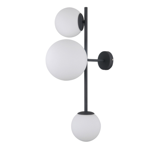 Černá moderní nástěnná lampa Vailante E27 3 žárovky