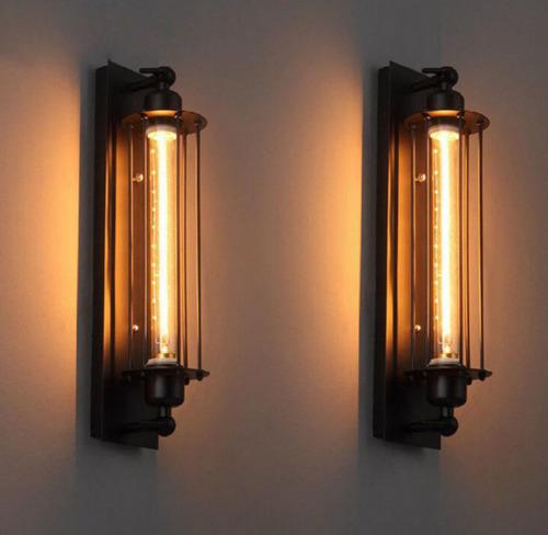 Nástěnná lampa Retro Loft Abigali