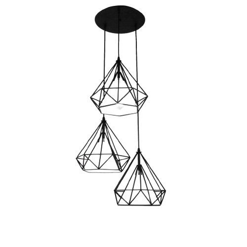 Závěsná lampa Diament Abigali Diamond III