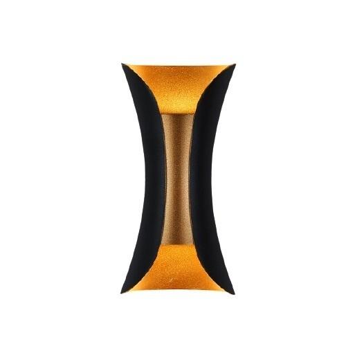 Nástěnná lampa Abigali černo-zlatá IP65 2x5W 3000K