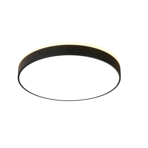 Kulatá černá stropní lampa Abigali 600 * 65 mm 60 W 3000 K LED