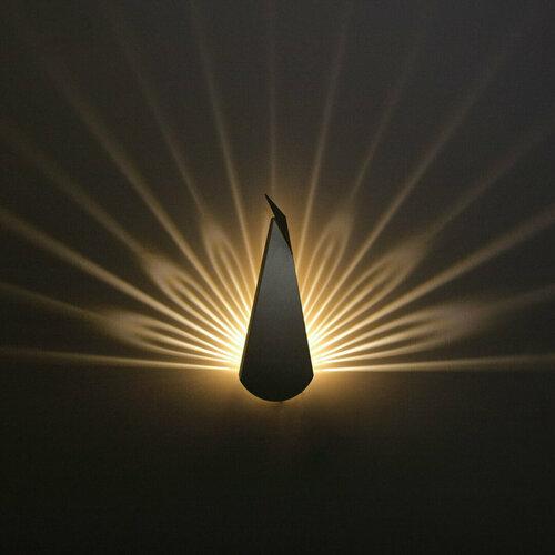 Nástěnná lampa Paw Abigali Pawn Black