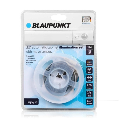 Blaupunkt LED pásek s pohybovým senzorem napájený bateriemi 4xAAA Kabinet Light Set přírodní barva