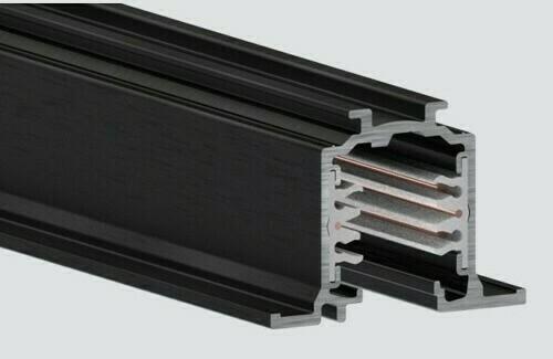 Zapuštěná lišta 1m černá RECESSED ONETRACK Stucchi 9000-1 / BR