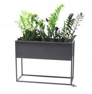 Kovový stojan na květiny CUBO šedý půdní box 60x80x30cm small 0