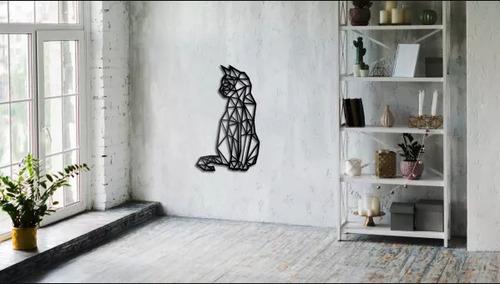Geometrická kočka nástěnná dekorace
