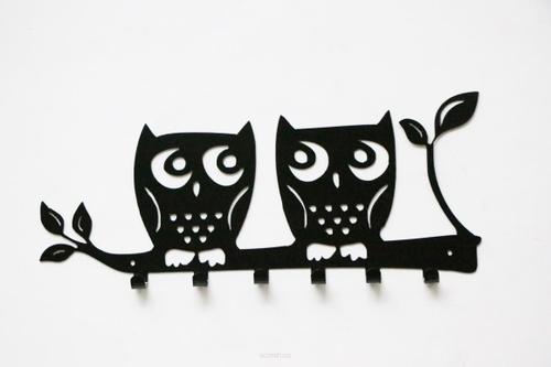 Nástěnný věšák OWL černý