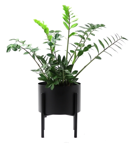 Kovový květinový záhon MOYENE Exkluzivní 37cm černý