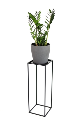 Kovový stojan na květinový záhon LOFT na jeden hrnec 70cm černý