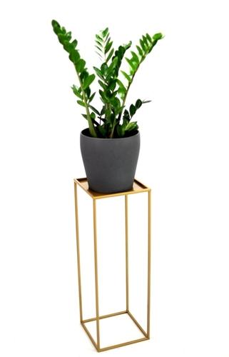 Kovový stojan na květinový záhon LOFT pro jeden hrnec 70cm zlatý