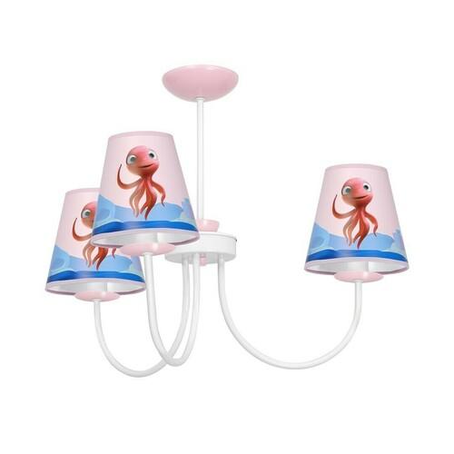 Vícebarevný lustr Octopus Lola Mini 3x E14