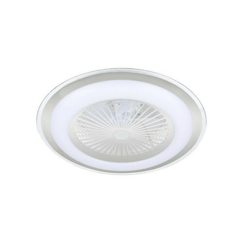 Stříbrný Led Plafond Zonda Silver 60 W s ventilátorem