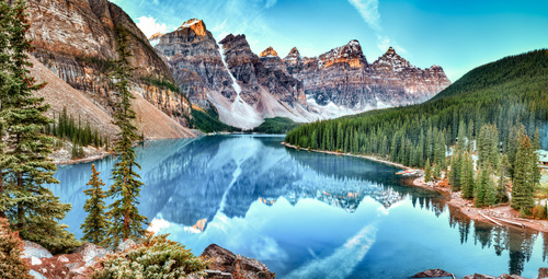 Fototapeta Kanada, jezero, Alberta, krajina, příroda