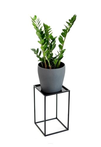 Kovový stojan na záhon LOFT pro jeden květináč 40cm černý