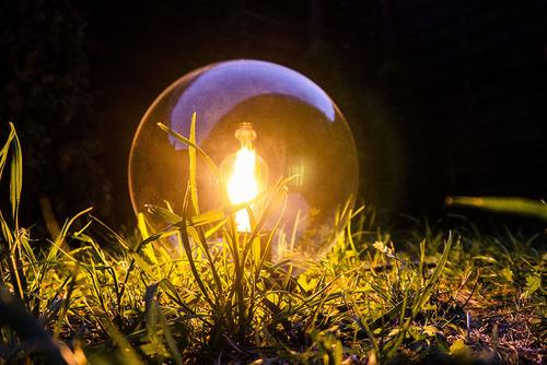 Zahradní kuličková lampa Luna ball 25 cm, moderní, transparentní