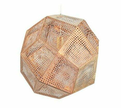 Závěsná lampa FUTURI STAR měděná 32 cm