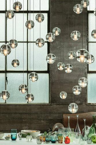 Závěsná lampa STARLIGHT-5 krystal 30 cm