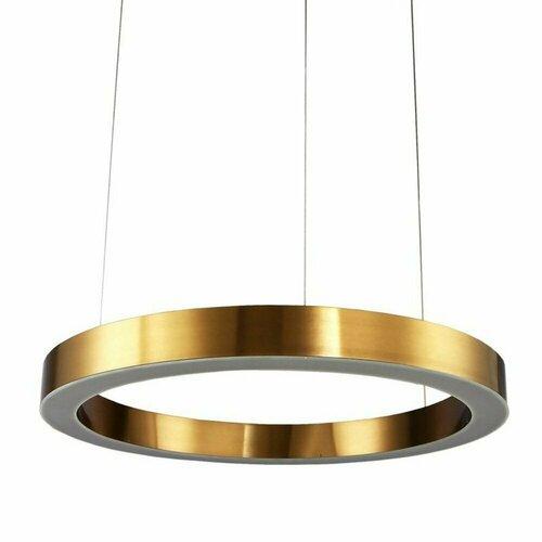 Závěsná lampa CIRCLE 60 LED mosaz 60 cm