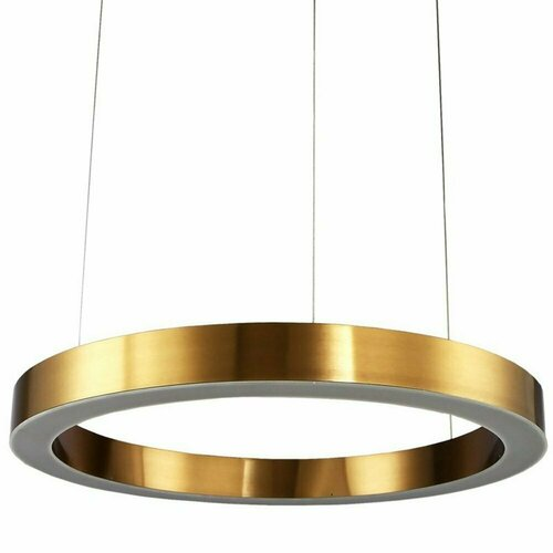 Závěsná lampa CIRCLE 80 LED mosaz 80 cm
