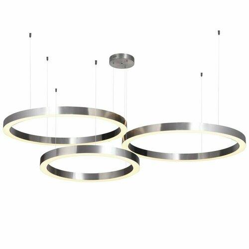 Závěsná lampa CIRCLE 60 + 80 + 80 LED nikl na 1 stropním obložení