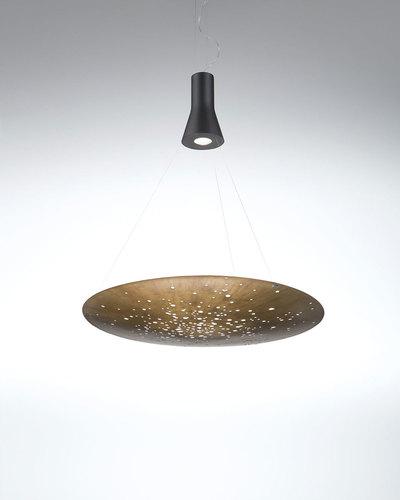 Závěsná lampa Fabbian LENS F46A0176 Bronz