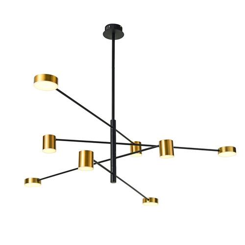 Černá závěsná lampa Remdal