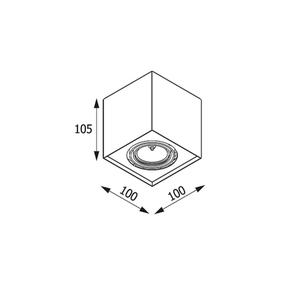 Strop ALEJO S1 max. 1x35W, GU10, 230V, tmavě černá (matná struktura) RAL 9005 small 1