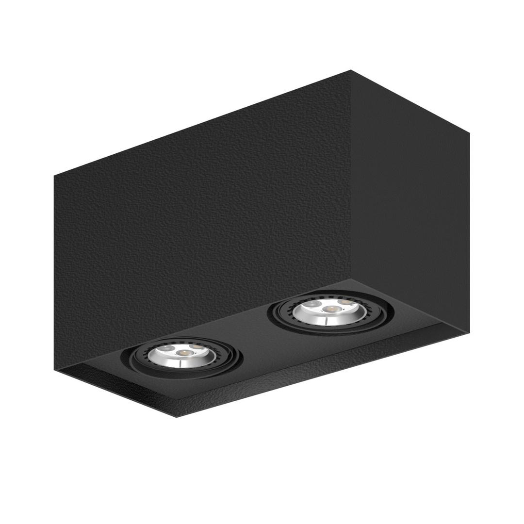 Strop ALEJO S2 max. 2x35W, GU10, 230V, tmavě černá (matná struktura) RAL 9005