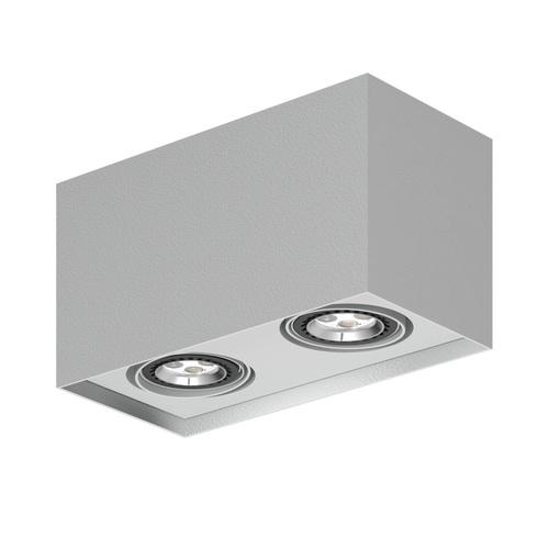 Strop ALEJO S2 max. 2x35W, GU10, 230V, stříbrná hliník (matná struktura) RAL 9006