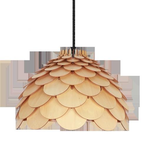BURGO Velká závěsná lampa Rosette Světle hnědá
