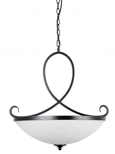 Lampa wisząca z białym kloszem Cuneo