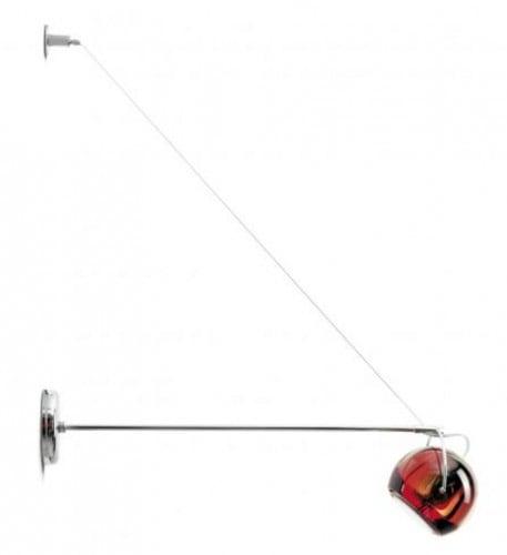 Nástěnné svítidlo Beluga Barva červená D57D0303 Fabbian