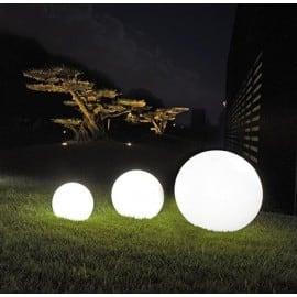 Sada tří zahradních míčků Luna koule 20 cm 25 cm 30 cm, s LED žárovkami, bílými zářícími zahradními kuličkami, energeticky úspornými žárovkami LED small 2