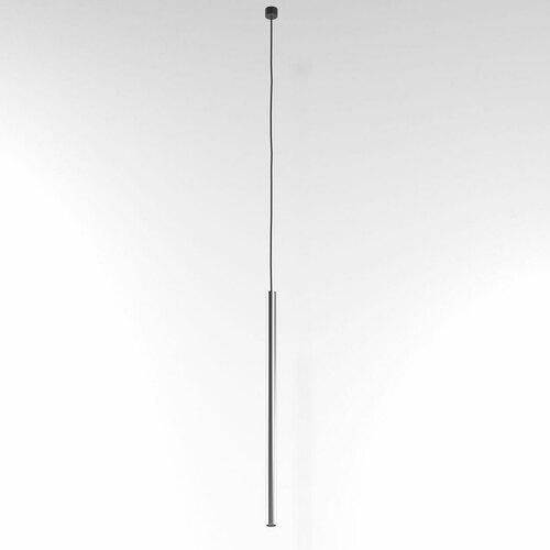 NER 500 visí max. 1x2,5W, G9, 230V, černý drát, stříbrná barva (hladká rohož)