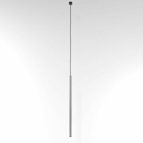 NER 550 visí max. 1x2,5W, G9, 230V, černý vodič, hliník stříbrný (lesk) RAL 9006