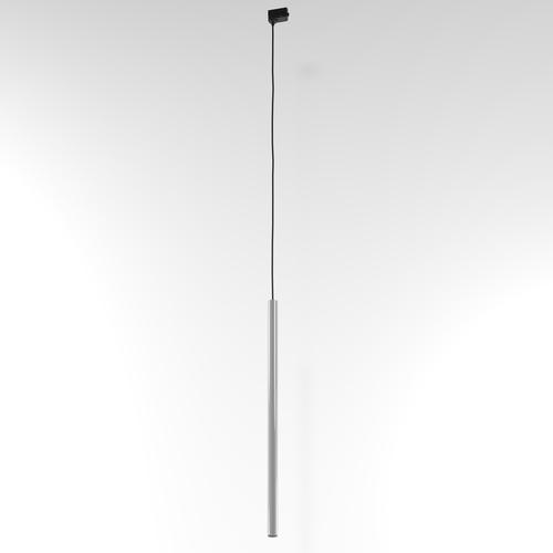 Závěsná dráha NER 550, max. 1x2,5W, G9, 230V, černý vodič, hliník stříbrný (lesk) RAL 9006