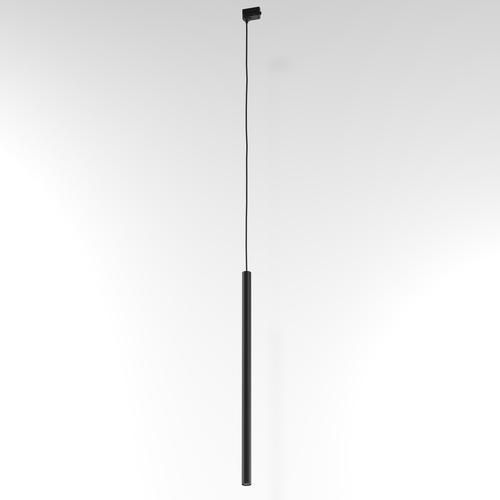 Závěsná dráha NER 600, max. 1x2,5W, G9, 230V, černý vodič, hluboká černá (matná struktura) RAL 9005