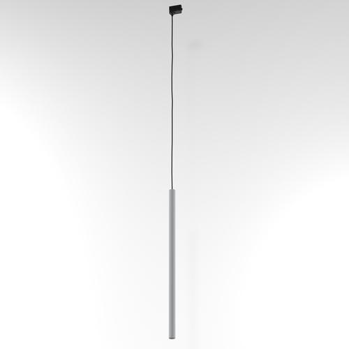 Závěsná dráha NER 600, max. 1x2,5W, G9, 230V, černý vodič, hliník stříbrný (mat) RAL 9006
