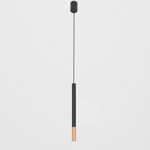 NERON 500 visí max. 1x2,5W, G9, 230V, černý vodič, barva mědi (hladká rohož), černá (mat) RAL 9017