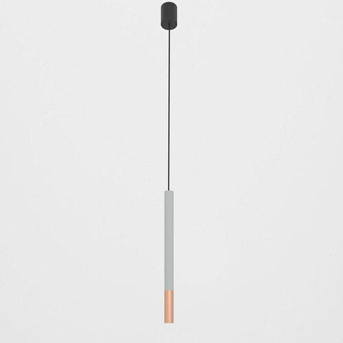NERON 500 visí max. 1x2,5W, G9, 230V, černý vodič, barva mědi (hladká rohož), stříbrná hliník (mat) RAL 9006
