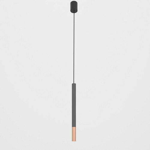 NERON 500 visí max. 1x2,5W, G9, 230V, černý vodič, měděná barva (hladká rohož), grafitově šedá (struktura rohože) RAL 7024
