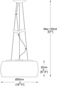 VNITŘNÍ SVĚTLO (HINGE) ZUMA LINE CRYSTAL PENDANT P0076-06X-F4FZ small 1