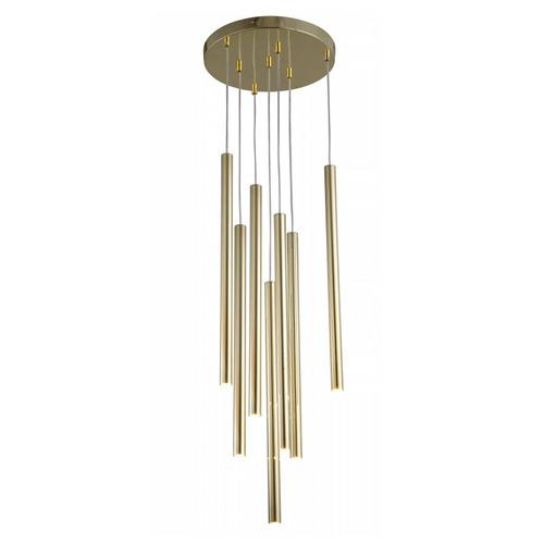 Zlatá závěsná lampa Lungo 7
