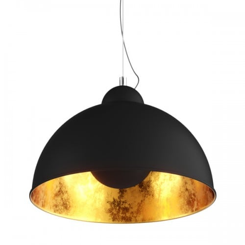 Stropní lampa Anténní přívěsek Černý, zlatý uprostřed