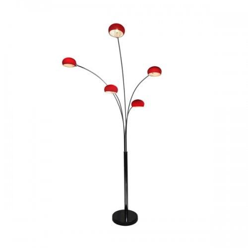 LAMPA WEWNĘTRZNA (PODŁOGOWA) ZUMA LINE VENTI FLOOR TS-5805G-RE (red) - Czerwony || Czarny