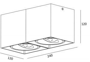 VNITŘNÍ SVĚTLO (SPOT) ZUMA LINE BOX SL 2 SPOT 89949 (bílá) small 1